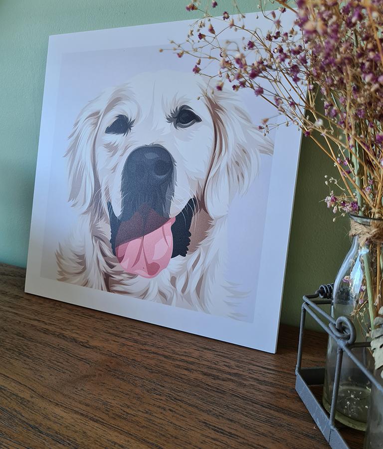 honden portret gold retriever